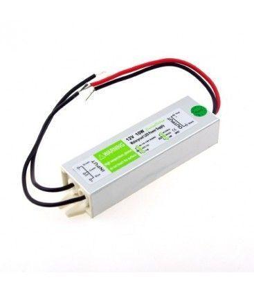 10W strömförsörjning - 12V DC, 0,8A, IP67 vattentät