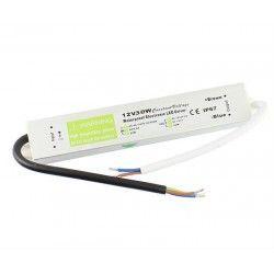12V RGB 30W strömförsörjning - 12V DC, 2,4A, IP67 vattentät