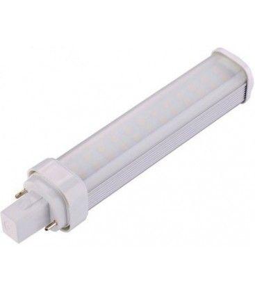 LEDlife G24D LED lampa - 7W, 120°, varmvitt, matt glas