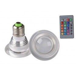 E27 LED RGB3 - LED lampa, 3W, 230V, fjärrkontroll, E27