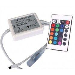 LED strip RGB kontroller med fjärrkontroll - 230V, memory funktion, infraröd