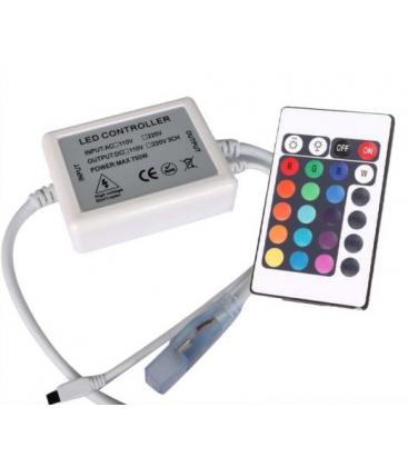 RGB kontroller med fjärrkontroll - 230V, memory funktion, infraröd