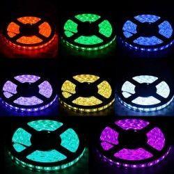 12V IP68 RGB 14W/m RGB vattentät LED strip - 5m, IP68, 60 LED per. meter