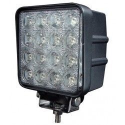 Strålkastare 48W LED arbetsbelysning - Bil, lastbil, traktor, trailer, nödfordon, kallvit, 12V / 24V