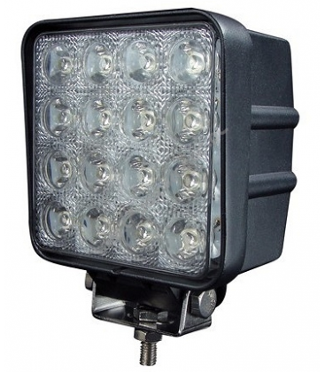 48W LED arbetsbelysning - Bil, lastbil, traktor, trailer, nödfordon, kallvit, 12V / 24V
