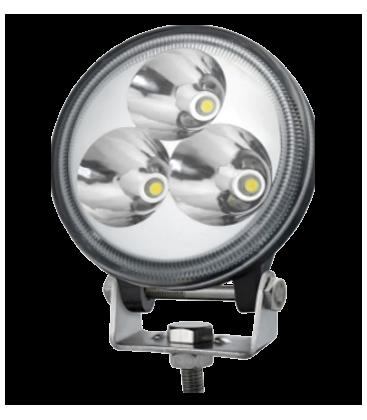 9W LED arbetsbelysning - Bil, lastbil, traktor, trailer, nödfordon, kallvit, 12V / 24V