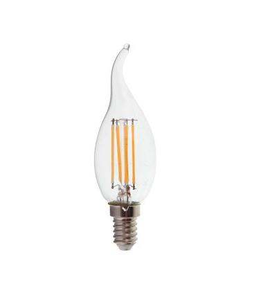V-Tac 4W LED flammalampa - Filament, varmvitt, E14