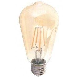 E27 vanliga LED V-Tac 6W LED lampa - Filament, amberfärgad, extra varmvitt, 2200K, ST64, E27