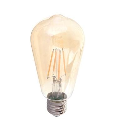 V-Tac 6W LED lampa - Filament, amberfärgad, extra varmvitt, 2200K, ST64, E27