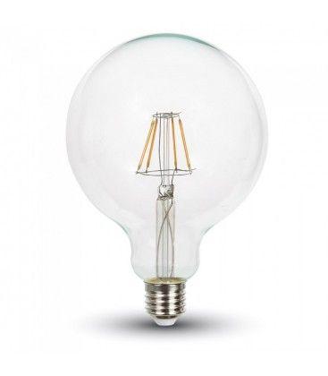 V-Tac 4W LED globlampa - Filament, Ø12,5 cm, dimbar, E27