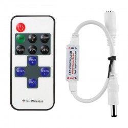 12V Trådlöst dimmer med fjärrkontroll - RF trådlöst, minnesfunktion, 12V (30W)