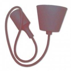 LED takpendel V-Tac silikone pendellampa med tygledning- Brun, E27