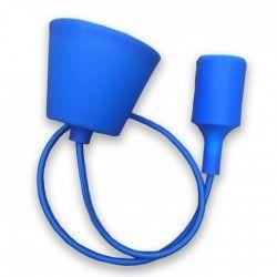 LED takpendel V-Tac silikone pendellampa med tygledning - Blå, E27