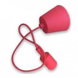 LED takpendel V-Tac Röd hängande med tygsladden - 230V, E27 silikone sockel