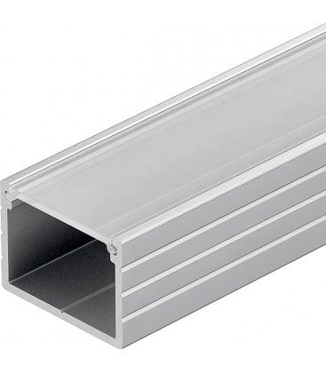 Aluprofil Type W till IP65 / IP68 LED strip - 1 meter, inkl. frostat cover och klips