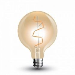 E27 Globe LED lampor V-Tac 4W LED globlampa - Filament, Ø9,5 cm, extra varmvitt, 2200K, E27