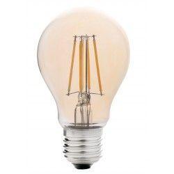 E27 LED LEDlife 4W LED lampa - Dimbar, filament, amberfärgad, extra varmvitt, 2200K, A60, E27