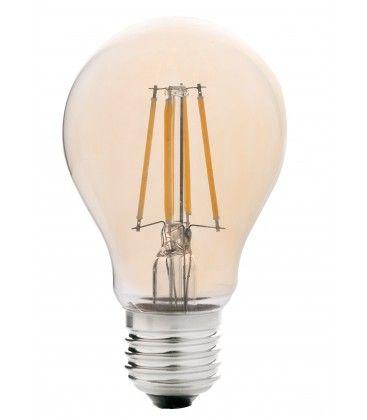 LEDlife 4W LED lampa - Dimbar, filament, amberfärgad, extra varmvitt, 2200K, A60, E27