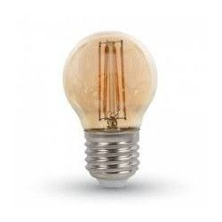 E27 vanliga LED LEDlife 4W LED lampa - Dimbar, filament, amberfärgad, extra varmvitt, 2200K, A60, E27
