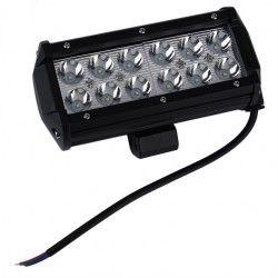 Strålkastare 36W LED arbetsbelysning - Bil, lastbil, traktor, trailer, nödfordon, kallvit, 12V / 24V