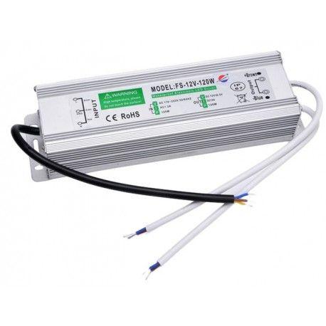 120W strömförsörjning - 12V DC, 10A, IP67 vattentät