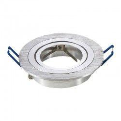 Downlights Downlight kit utan ljuskälla - Hål: Ø7,5 cm, Mål: Ø9,1 cm, borstad aluminium, välj MR16 eller GU10 sockel