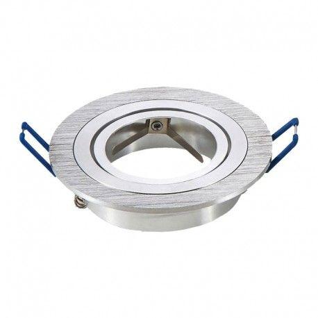 Downlight kit utan ljuskälla - Hål: Ø7,5 cm, Mål: Ø9,1 cm, borstad aluminium, välj MR16 eller GU10 sockel