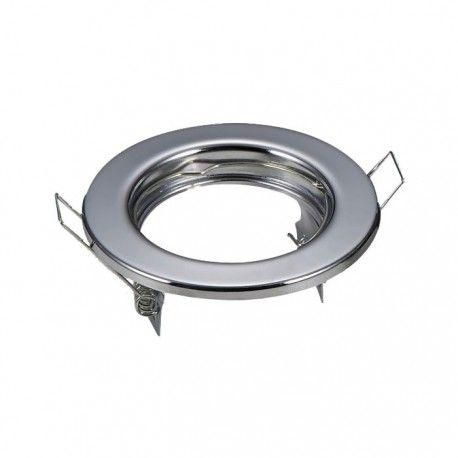 Downlight kit utan ljuskälla - Hål: Ø6,5 cm, Mål: Ø8 cm, krom, välj MR16 eller GU10 sockel