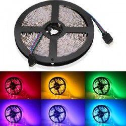 12V RGB V-Tac 4,8W/m RGB stänksäker LED strip - 5m, 30 LED per. meter