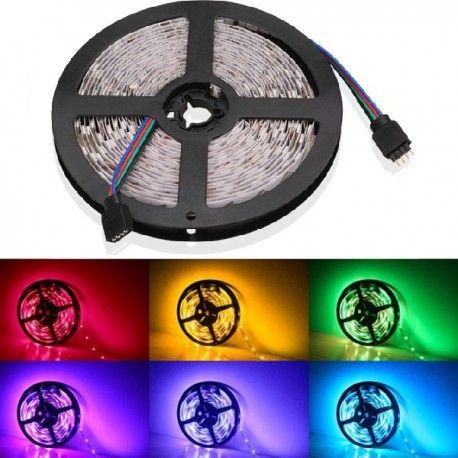 V-Tac 4,8W/m RGB stänksäker LED strip - 5m, 30 LED per. meter