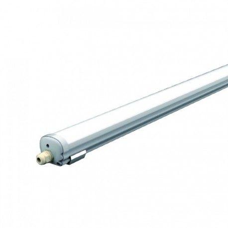 V-Tac vattentät 48W komplett LED armatur - 150 cm, IP65, 230V
