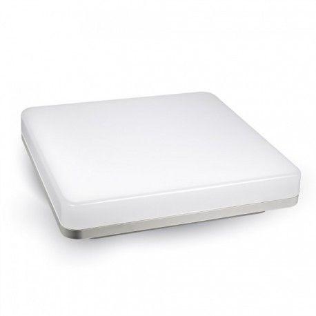 V-Tac kvadrat 15W LED takarmatur - IP44, 20 x 20cm, 230V, inkl. ljuskälla