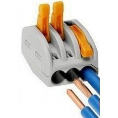 Skruvlös snabbkoppling till 3 ledningar