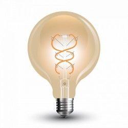 E27 Globe LED lampor V-Tac 5W LED globlampa - Filament, Ø9,5 cm, extra varmvitt, E27