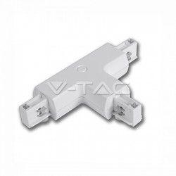 V-Tac T-skarv för skena - Vit