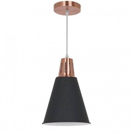 V-Tac modern pendellampa - Koppar + svart sandblästrad, Ø22 cm, E27