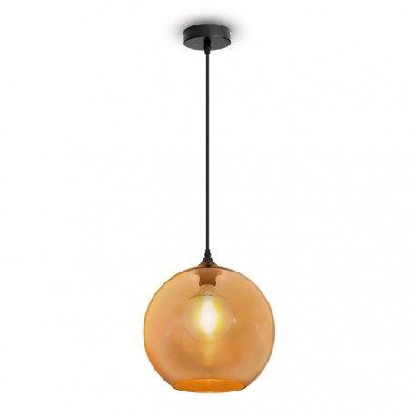 V-Tac glas pendellampa - Bärnstenfärgad, Ø30 cm, E27