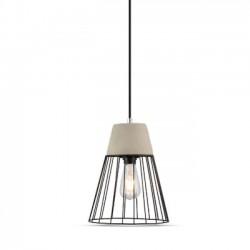 LED takpendel V-Tac betong+jern hängande armatur - Ø25cm, E27