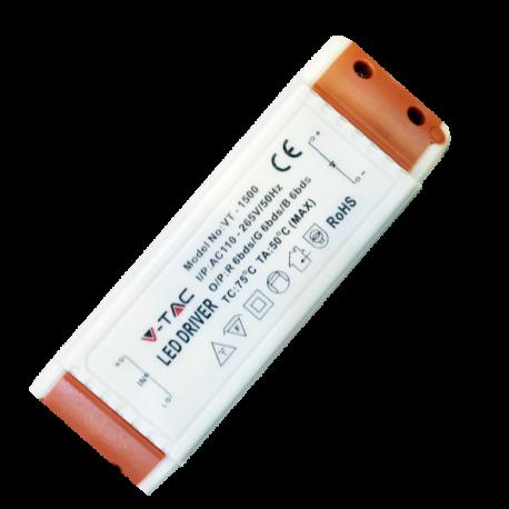 V-Tac 15W driver till 15W downlight - Inte dimbar, 230V