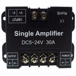 12V Signal förstärkare för enfärgade LED strips