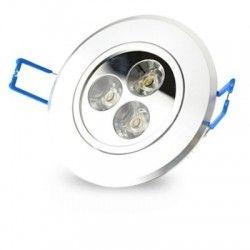 Downlights 3W downlight - Hål: Ø7-8 cm, Mål: Ø8,4 cm, 4 cm hög, dimbar, 12V/24V