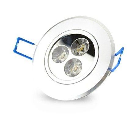 3W downlight - Hål: Ø7-8 cm, Mål: Ø8,4 cm, 4 cm hög, dimbar, 12V