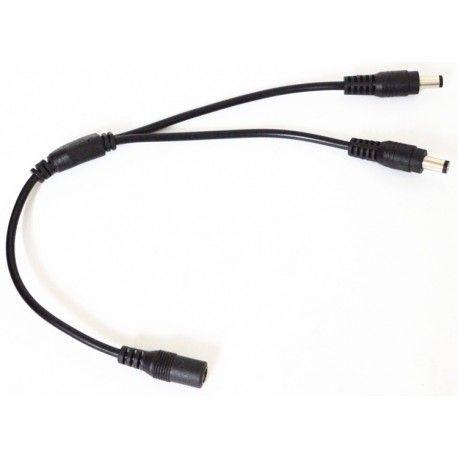 DC-kabel splitter - 5V-48V, svart