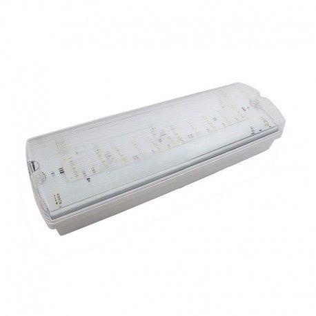 V-Tac 4W LED nödbelysning - Till vägg/tak montering 190 lumen, inkl. batteri och piktogram