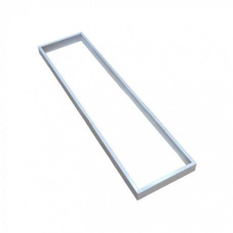 Ram till 120x30 LED panel - Snabb skruvlös kit, vit kant
