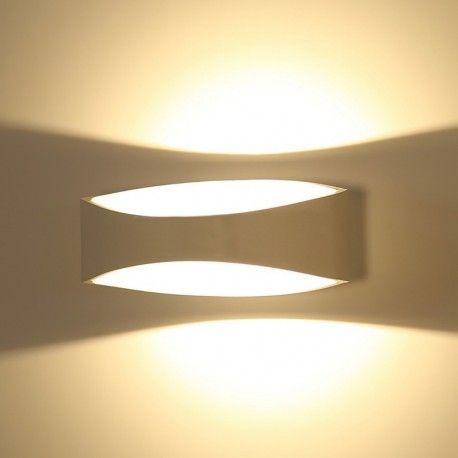 V-Tac 5W LED vägglampa - Indirekt, IP20 inomhus, 230V, inkl. ljuskälla