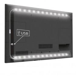 12V USB TV-stämningsbelysning LED kallvitt - 2 listar, 50 cm per. lista