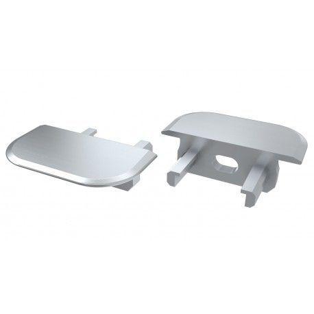 Ändstycken för aluprofil Type Z - 2 st, grå