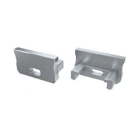 Ändstycken för aluprofil Type A - 2 st, grå