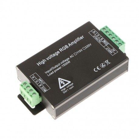 Signal förstärkare till 230V RGB strip - max 80 meter